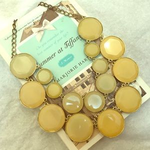 Cream embellished 2 layer necklace